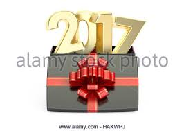 new year box golden gift box with 2017 happy new year greeting card stock