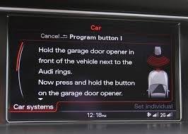 Syncing Garage Door Opener With Car by 2014 Audi S4 Homelink