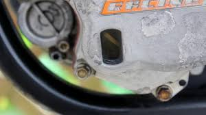how to change oil and filter on a ktm motard youtube