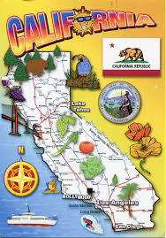 usa california map map of california remembering letters and postcards