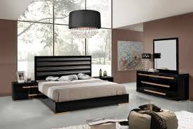 Queen Size Bedroom Furniture Sets Nova Domus Romeo Italian Modern Black U0026 Rosegold Bedroom Set
