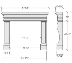 Fireplace Insert Dimensions by Average Fireplace Dimensions Learn Pinterest Mantels Mantle