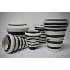 Striped Vase Striped Vase Black And White Collection Tzil Design