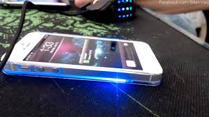 light blue iphone 5c case iphone 5 light up glowing protective case youtube