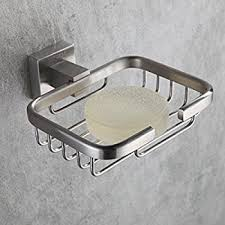 bathroom shoo holder amazon com fapully 100418s soap dish stainless steel