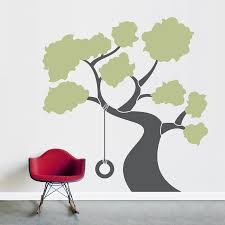 Wallpaper Decal Theme Tire Swing Tree Wall Decal Sticker