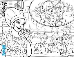 free printable barbie princess charm coloring pages