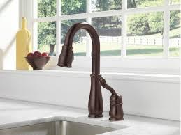 100 delta leland kitchen faucet venetian bronze faucet com