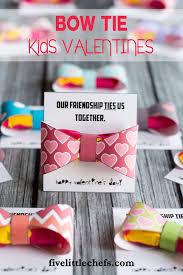 kids valentines bow tie five little chefs