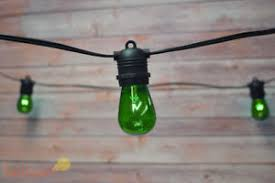 Colored Outdoor Light Bulbs 24 Socket Outdoor String Light S14 Green Colored Light Bulbs 54ft