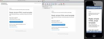 really simple responsive html email template email template
