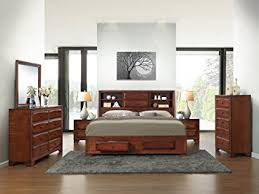 Antique Finish Bedroom Furniture Roundhill Furniture Asger Antique Oak Finish Wood Bed