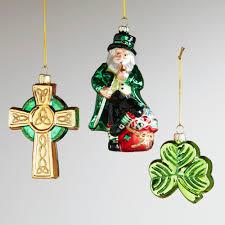 glass ireland ornaments set of 3 world market and