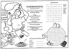 kids placemats children s menus kid s placemat coloring menus for restaurants