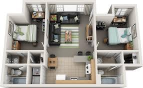 2 bedroom 2 bath floor plan