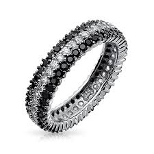 white eternity rings images 925 sterling silver round cubic zirconia black white eternity ring jpg