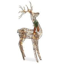 sylvania grapevine standing deer lawn decoration
