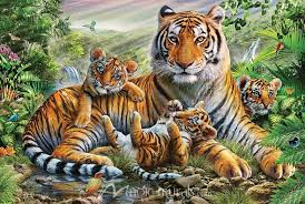 tiger and cubs nature wall murals at magicmurals com