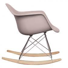 ray eames style rar rocking chair light grey