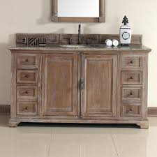 Rustic Bathroom Cabinets Vanities - providence 60 inch cottage bathroom vanity in distressed finish