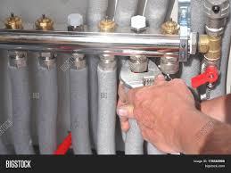 radiant floor heating installation image photo bigstock