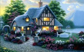 house lights garden flower sea wallpapers house lights garden