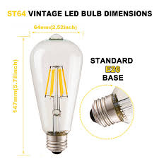 clear vintage led edison light bulbs dimmable 6w antique led