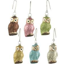 pastel glitter glass owl ornament from bethany lowe designs