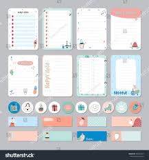 christmas planner template cute calendar daily weekly planner template stock vector 446684017 cute calendar daily and weekly planner template note paper and stickers set with vector funny