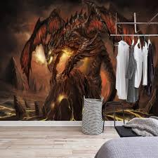 aliexpress com buy custom mural wallpaper world of warcraft aliexpress com buy custom mural wallpaper world of warcraft fiery dragon game themed background wall painting 3d murals wallpaper for living room from