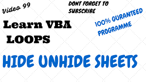 learn excel video 99 vba how to hide unhide sheets youtube