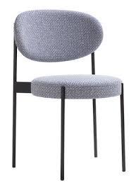 chaise rembourr e chaise rembourrée series 430 empilable tissu tissu gris noise