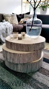 wood slice end table 34 wood slice home décor ideas shelterness