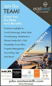 Part Time Hotel Front Desk Jobs Jobs In Summit Colorado Classifieds By Summitdaily Com