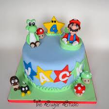 mario cake topper mario cake with handmade edible mario yoshi cake t flickr