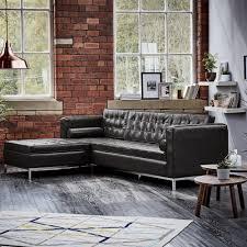 wallace sacks leather carpi right corner sofa