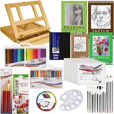 amazon com us art supply 134 piece acrylic painting u0026 sketch