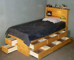 Twin Bed With Storage And Bookcase Headboard by Platform Beds With Drawers Underneath The Best Bedroom Inspiration