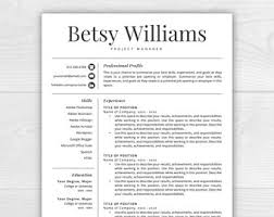 Free Resume Template For Mac Free Resume Template Etsy