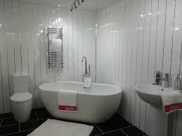 Plastic Wall Panels For Bathrooms by 10 White Sparkle Chrome Strip Diamond Effect Pvc Bathroom Cladding