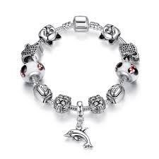 pandora style silver charm bracelet images European pandora style charm bracelets with lion silver charms jpg