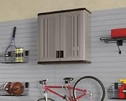 suncast wall storage cabinet platinum new suncast easy to use double wall resin storage cabinet platinum