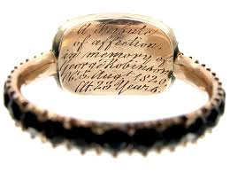 mourning ring gold vauxhall glass georgian mourning ring the antique
