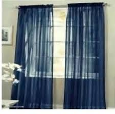 Blue Window Curtains by Blue Dragon Fly