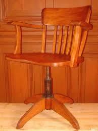 fauteuil de bureau en bois pivotant fauteuil de bureau vers 1950