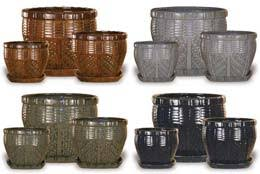 round planters large and midsized pots and planters wholesale