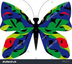 isolated beautiful butterfly cartoon vector stock vector 384040294