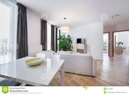 open space modern interior design living room stock photo image