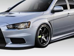 widebody evo 08 15 mitsubishi lancer evo x v3 duraflex body kit fenders