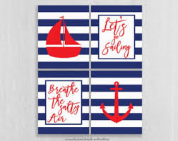 Sailboat Bathroom Accessories by Nautical Wall Art Etsy